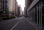 April 21, 2020<br /> New York, New York<br /> <br /> Looking north on Park Avenue Manhattan just after sunrise during the height of the coronavirus pandemic.