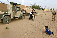 MALI, Gao, Minusma UN mission, Camp Castor, german army Bundeswehr on patrol with Eagle armored vehicle in Gao city