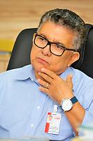 Empresário Oscar Rodrigues, do grupo Lider, durante entrevista.<br />© Mauro Angelo