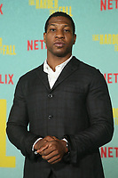 LOS ANGELES, CA - OCTOBER 13: Jonathan Majors at the Special Screening Of The Harder They Fall at The Shrine in Los Angeles, California on October 13, 2021. Credit: Faye Sadou/MediaPunch