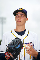 Montgomery Biscuits pitcher Blake Snell (11) poses for a photo before a game against the Tennessee Smokies on May 25, 2015 at Riverwalk Stadium in Montgomery, Alabama.  Tennessee defeated Montgomery 6-3 as the game was called after eight innings due to rain.  (Mike Janes/Four Seam Images)