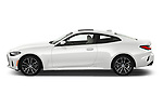 Car Driver side profile view of a 2021 BMW 4-Series-Coupe 430i 2 Door Coupe Side View