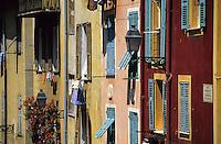 Europe/France/Provence-Alpes-Côte d'Azur/06/Alpes-Maritimes/Nice: Vieux Nice, fascade rue Rossetti