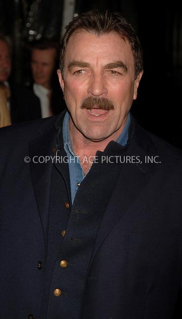 "WWW.ACEPIXS.COM . . . . .  ....APRIL 25, 2006 - NEW YORK CITY....Tom Selleck at the world premiere of "" United 93"" at the Ziegfeld Theatre, as part of the 5th Annual Tribeca Film Festival.....Please byline: AJ Sokalner - ACEPIXS.COM.... *** ***..Ace Pictures, Inc:  ..(212) 243-8787 or (646) 769 0430..e-mail: picturedesk@acepixs.com..web: http://www.acepixs.com"