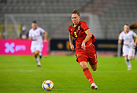 Jassina Blom (3) of Belgium pictured during a female soccer game between the national teams of Belgium , called the Red Flames and Albania in the second game in the qualification for the  FIFA Women's World Cup in group F , on tuesday 21 st of September 2021  in Brussels , Belgium . PHOTO SPORTPIX
