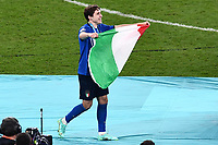 11th July 2021; Wembley Stadium, London, England; 2020 European Football Championships Final England versus Italy;  Federico Chiesa with national flag of Italy