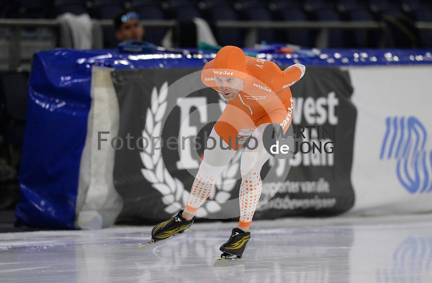 SCHAATSEN: HEERENVEEN: 10-10-2020, KNSB Trainingswedstrijd, Arjan Stroetinga, ©foto Martin de Jong