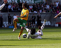 Pictured: Jason Scotland of Swansea City in action <br /> Re: Coca Cola Championship, Swansea City FC v Norwich City FC at the Liberty Stadium Swansea, south Wales. Saturday 11 April 2009.<br /> Picture by D Legakis Photography / Athena Picture Agency, Swansea 07815441513