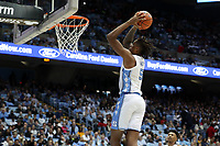 CHAPEL HILL, NC - NOVEMBER 01: Armando Bacot #5 of the University of North Carolina dunks the ball during a game between Winston-Salem State University and University of North Carolina at Dean E. Smith Center on November 01, 2019 in Chapel Hill, North Carolina.