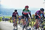 The peloton including Italian Champion Elisa Longo Borghini (ITA) Trek-Segafredo climb La Redoute during Liege-Bastogne-Liege Femmes 2021, running 141km from Bastogne to Liege, Belgium. 25th April 2021.  <br /> Picture: A.S.O./Gautier Demouveaux | Cyclefile<br /> <br /> All photos usage must carry mandatory copyright credit (© Cyclefile | A.S.O./Gautier Demouveaux)