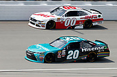 NASCAR XFINITY Series<br /> Irish Hills 250<br /> Michigan International Speedway, Brooklyn, MI USA<br /> Saturday 17 June 2017<br /> Denny Hamlin, Hisense Toyota Camry Cole Custer Haas Automation Ford Mustang<br /> World Copyright: Matthew T. Thacker<br /> LAT Images