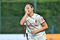 11th September 2021;  Mirko Fersini Stadium, Rome, Italy ; Serie A Womens championship football, Lazio versus Milan ; Veronica Boquete of Milan celebrates after scoring her goal