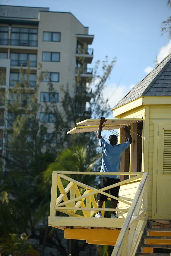 Lifeguard tower.Needham's Point.Bridgetown, St. Michael Parish.Barbados.