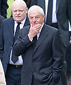 Walter Smith arrives at Mortonhall Crematorium for the funeral service of Sandy Jardine.