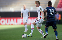 ZAPOPAN, MEXICO - MARCH 21: Jackson Yueill #6 of the United States turns with the ball during a game between Dominican Republic and USMNT U-23 at Estadio Akron on March 21, 2021 in Zapopan, Mexico.