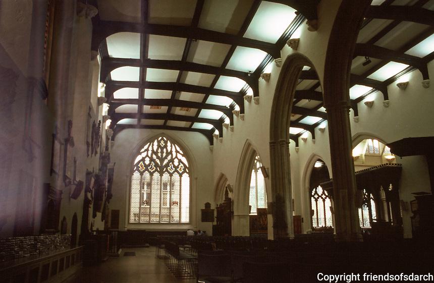 London:  St. Helen Bishopsgate, 15th Century.  North Nave or Nun's Choir.  Photo '90.