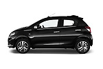 Car Driver side profile view of a 2016 Peugeot 108 Allure 5 Door Micro Car Side View
