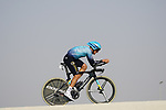 Yevgeniy Gidich (KAZ) Astana-Premier Tech during Stage 2 of the 2021 UAE Tour an individual time trial running 13km around  Al Hudayriyat Island, Abu Dhabi, UAE. 22nd February 2021.  <br /> Picture: Eoin Clarke | Cyclefile<br /> <br /> All photos usage must carry mandatory copyright credit (© Cyclefile | Eoin Clarke)