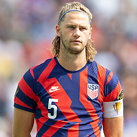 KANSAS CITY, KS - JULY 18: Walker Zimmerman #5 of the United States during a game between Canada and USMNT at Children's Mercy Park on July 18, 2021 in Kansas City, Kansas.