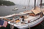 The schooner Timberwind in Rockport, ME, USA