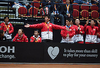 The Netherlands, Den Bosch, 16.04.2014. Fed Cup Netherlands-Japan, Japanese team members <br /> Photo:Tennisimages/Henk Koster