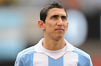 Argentina midfielder Angel Di Maria (7) The Argentina National Team defeated Brazil 4-3 at MetLife Stadium, Saturday July 9 , 2012.