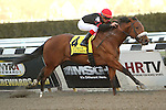 April 5, 2014: Dads Caps with Luis Contreras wins the 114th running of the Grade 1 Carter Handicap for 3-year olds & up, going 7 fulongs at Aqueduct Racetrack.  Trainer: Rudy Rodriguez. Owner: Klaravich Stables, Inc. and William Lawrence. Sue Kawczynski/ESW/CSM