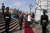 Kiev, Ukraine.August 24, 2005 ..Independence Day in Kiev, Ukraine. President Yushchinko arrives for events...
