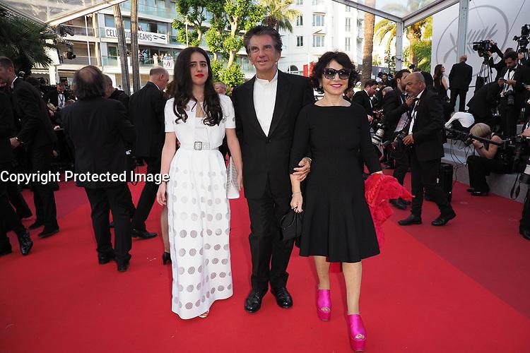 """Jack Lang, sa fille Valerie Lang et sa femme Monique Lang<br /> """"The Beguiled"""" Red Carpet<br /> Festival de Cannes 2017"""