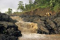 Little falls in a stream after a violent tropical storm, Sulphur Bay, Tanna Island, Vanuatu