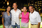 From left: Jill Jewett and Edward Finger with Elaine and Marvy Finger  at the Park Place pool party Saturday night June 20, 2009.(Dave Rossman/For the Chronicle)