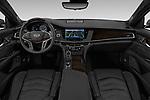 Stock photo of straight dashboard view of 2019 Cadillac CT6 Platinum 4 Door Sedan Dashboard