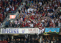 03 June 2012: The US fans show their support during an international friendly  match between the United States Men's National Soccer Team and the Canadian Men's National Soccer Team at BMO Field in Toronto..The game ended in 0-0 draw...