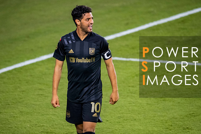 Carlos Vela of Los Angeles FC (USA) celebrates after scoring during their CONCACAF Champions League Semi Finals match against Club America (MEX) at the Orlando's Exploria Stadium on 19 December 2020, in Florida, USA. Photo by Victor Fraile / Power Sport Images