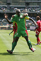 Loic Loval celebrates his goal. Guadeloupe defeated Panama 2-1 during the First Round of the 2009 CONCACAF Gold Cup at Oakland Coliseum in Oakland, California on July 4, 2009.