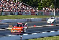 Jun. 1, 2013; Englishtown, NJ, USA: NHRA funny car driver Johnny Gray during qualifying for the Summer Nationals at Raceway Park. Mandatory Credit: Mark J. Rebilas-