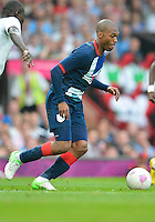 July 26, 2012..Britain's Daniel Sturridge (9). Great Britain vs Senegal Football match during 2012 Olympic Games at Old Trafford in Manchester, England. Senegal held Great Britain to a 1-1 draw...(Credit Image: © Mo Khursheed/TFV Media)