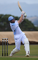 Action from the Pearce Cup Wellington men's cricket match between Johnsonville and Hutt Districts at Alex Moore Park in Johnsonville, New Zealand on Saturday, 6 March 2021. Photo: Dave Lintott / lintottphoto.co.nz