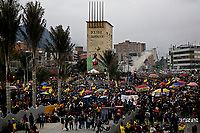 BOGOTA, COLOMBIA - MAY 15: People take part in a protest against sexual assault by the police and excess of public force on May 15, 2021 in Bogota. during national strike against Ivan Duque's administration on May 15, 2021 in Bogota, Colombia. Colombian people marched against sexual assault by the police today as national strike against President Ivan Duque's  government continued. One underage girl raped by police was so traumatised she killed herself on Tuesday. (Photo by Leonardo Munoz/VIEWpress)