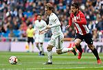 Real Madrid CF's Luka Modric and Athletic Club de Bilbao's Beñat Etxeberria during La Liga match. April 21, 2019. (ALTERPHOTOS/Manu R.B.)