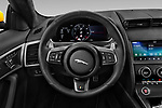 Car pictures of steering wheel view of a 2020 Jaguar F-Type R 2 Door Coupe Steering Wheel