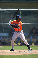 Baltimore Orioles Randolph Gassaway (64) at bat during a minor league Spring Training game against the Minnesota Twins on March 17, 2017 at the Buck O'Neil Baseball Complex in Sarasota, Florida.  (Mike Janes/Four Seam Images)