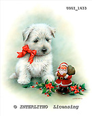 GIORDANO, CHRISTMAS ANIMALS, WEIHNACHTEN TIERE, NAVIDAD ANIMALES, paintings+++++,USGI1633,#XA# dogs,puppies