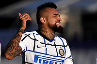 Arturo Vidal of FC Internazionale reacts during the Italy Cup round of 16 football match between ACF Fiorentina and FC Internazionale at Artemio Franchi stadium in Firenze (Italy), January 13th, 2021. Photo Andrea Staccioli / Insidefoto