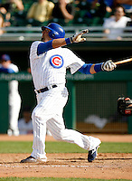 Jake Fox - Chicago Cubs - 2009 spring training.Photo by:  Bill Mitchell/Four Seam Images