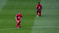 Wigan Athletic's Kieran Dowell and Jamal Lowe take knee <br /> <br /> Photographer Alex Dodd/CameraSport<br /> <br /> The EFL Sky Bet Championship - Huddersfield Town v Wigan Athletic - Saturday 20th June 2020 - John Smith's Stadium - Huddersfield <br /> <br /> World Copyright © 2020 CameraSport. All rights reserved. 43 Linden Ave. Countesthorpe. Leicester. England. LE8 5PG - Tel: +44 (0) 116 277 4147 - admin@camerasport.com - www.camerasport.com