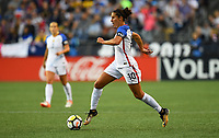 Seattle, WA - Thursday July 27, 2017: Carli Lloyd during a 2017 Tournament of Nations match between the women's national teams of the United States (USA) and Australia (AUS) at CenturyLink Field.
