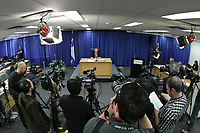 Visual journalists gather images as commissioner Michel Bastarache unveils the report of his inquiry in the appointment of judges, commonly know as the Commission Bastarache, Wednesday January 19, 2011.<br /> <br /> PHOTO :  Francis Vachon - Agence Quebec Presse