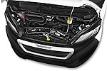 Car Stock 2015 Peugeot BOXER L4H2 4 Door Cargo Van Engine high angle detail view
