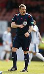 Referee John Beaton takes no action after headbutt